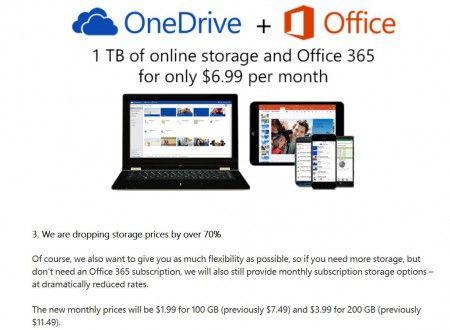 OneDriveのサービス拡充:目玉は1.99ドルで100GBだ。