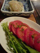 広尾・やきやき三輪 フルーツトマト 鯛のカルパッチョ