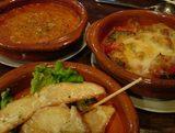新橋 エルベベドール ポテト バスク風カニグラタン 温野菜チーズのせ
