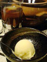 銀座 水炊き あまくさ デザート しもん茶
