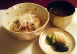 北海道十勝川温泉 旅館 三余庵 御飯(帯広名物 豚丼)
