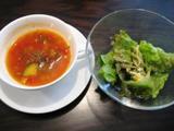 パラディ デュ ヴァン スープとサラダ