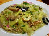 銀座 吉宗(よっそう)長崎料理 皿うどん 太麺