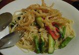 横浜 YOURS レストラン ユアーズ 鮮魚のフリットのせパスタ