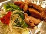 銀座 マロニエゲート やきやき三輪 鉄板焼き 鶏肉