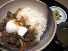 ステーキ 雄 牛丼ランチ