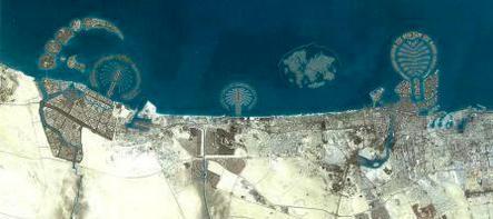ドバイ衛星写真