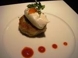 銀座 カザン KAZAN ディナー 山芋のサワークリームのせ