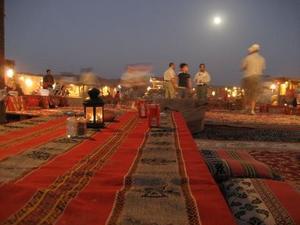 砂漠のキャンプ場