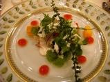 麻布十番 レストランクボウ オマール海老のサラダ