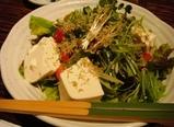 中目黒 だん 水菜と豆腐のジャコサラダ