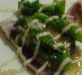 横浜 YOURS レストラン ユアーズ 炙りマグロのカルパッチョ