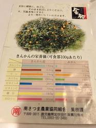 フルーツパーラー フクナガ 金柑栄養素