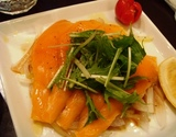 代々木 金魚カフェ サーモンマリネ