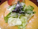 山岸食堂サラダとパン
