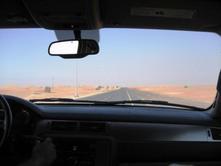 砂漠までの車中