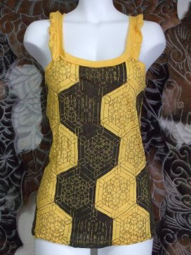 幾何学ヘキサゴンタンクトップエスニックファッション通販激安セール