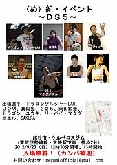 (め)組(DS5)・フライヤー