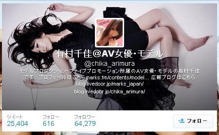 有村千佳-Twitter