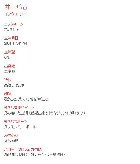 井上玲音-Profile