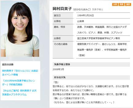 岡村真美子-ウェザーマップ-Profile