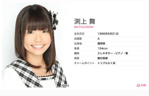 渕上舞-Profile