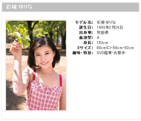 彩城ゆりな-Profile