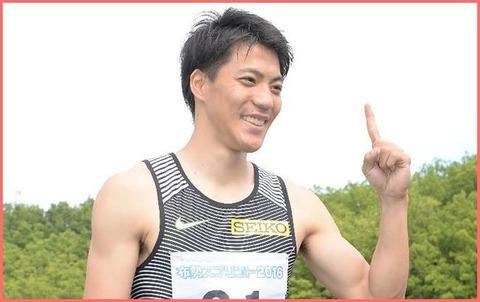 山県亮太、向かい風で10秒00!日本歴代2位!