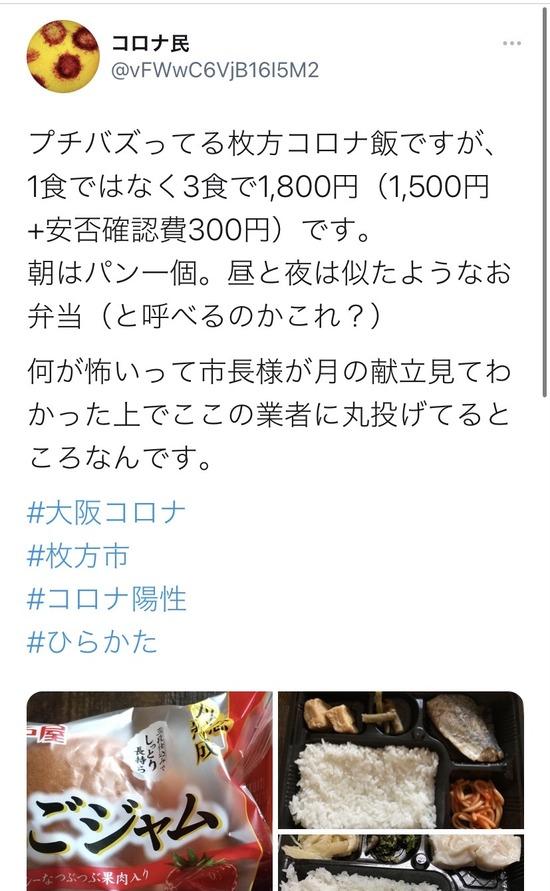 【画像】大阪のコロナ療養者に配達されるイソジン弁当がコチラwww