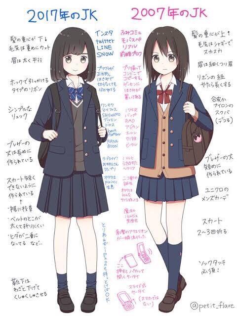 【画像】今と昔の女子高生の違いがこちらwww