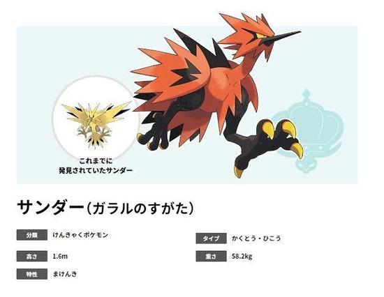 【画像】ポケモン剣盾の三鳥(サンダーファイヤーフリーザ)、もはや別の生き物wwww