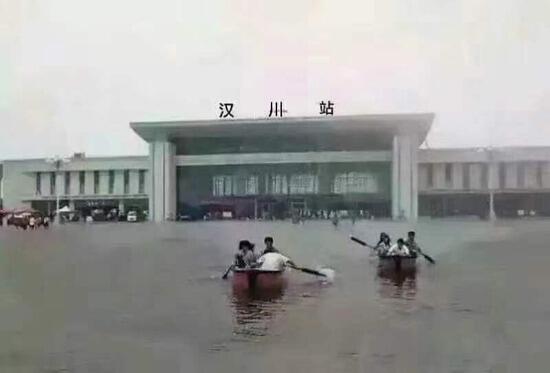【速報】武漢、水没