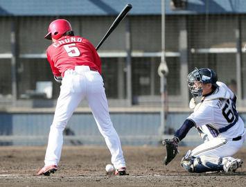 【広島】長野が死球で交代 高ヘッド「明日になってみないと分からない」