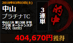 【先週はオーシャンステークス的中!100万越えが4本も!!】