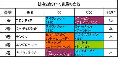 新潟2歳ステークス2017(馬連・3連複的中)・キーンランドカップ(複勝的中)・BSN賞(馬単的中)回顧