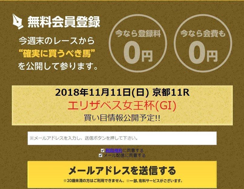 2018/11/11(日)の競馬予想