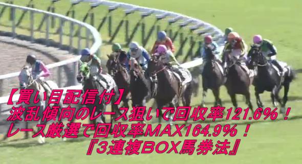 回収率MAX164.9%!【買い目配信付】3連複BOX馬券法