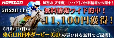 ■春のG1【6戦4勝】日本ダービー厳選買い目情報■