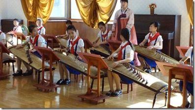 北朝鮮の音楽練習現場