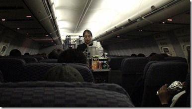 ユナイテッド航空機内