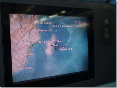マダガスカルの上空