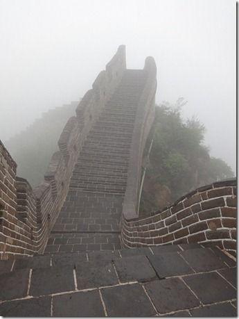 万里の長城の急勾配