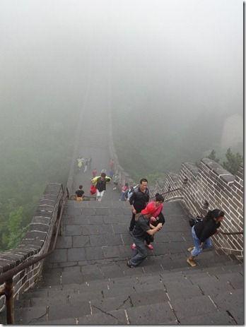 霧がかった万里の長城