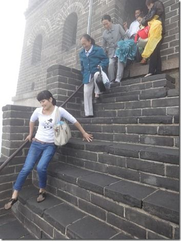 万里の長城の階段