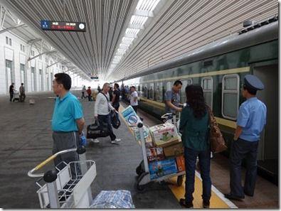 丹東から平壌への列車