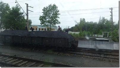 丹東から平壌への列車での移動 ...