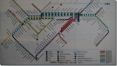 ヨハネスメトロ路線図1 拡大可