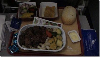 南アフリカ航空機内食
