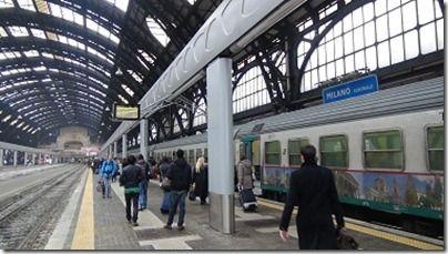 ミラノ中央駅の光景
