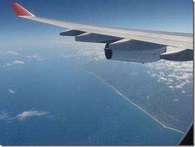 マダガスカル上空
